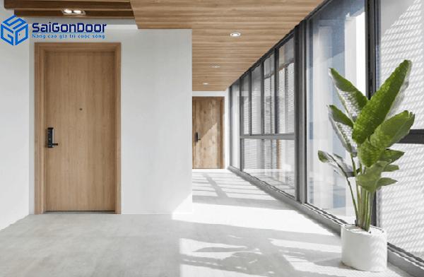 Cửa gỗ công nghiệp HDF rất yêu thích tại Tiền Giang